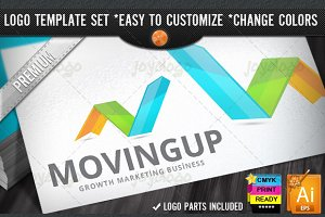 3D Arrows Grow Marketing Succes Logo