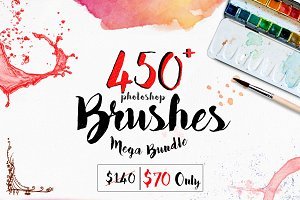 450+ Photoshop Brushes Mega Bundle