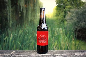 Beer Bottle Label Mock-up#4