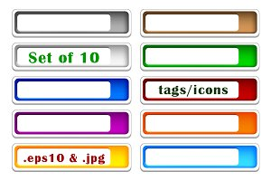Set of color icons - tags