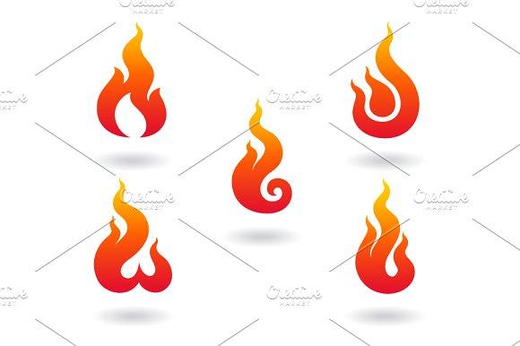 Flame Symbol Icons Creative Market