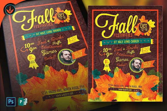 Fall Festivities Holiday Flyer