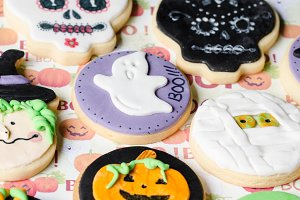 Halloween homemade cookies