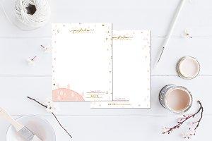 Letterhead Template | Cute Lines