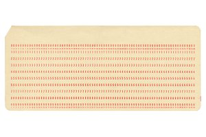 Punched card