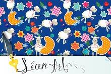 Seamless pattern - sweet dreams