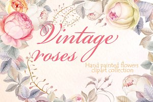 Vintage Rouses - Clipart Collection