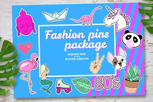 Fashion pins package.