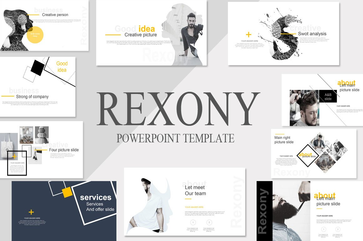 Rexony Creative Powerpoint Template ~ Presentation Templates ...