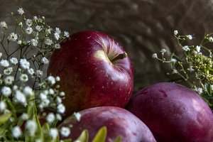 Organic Apples and Baby's Breath
