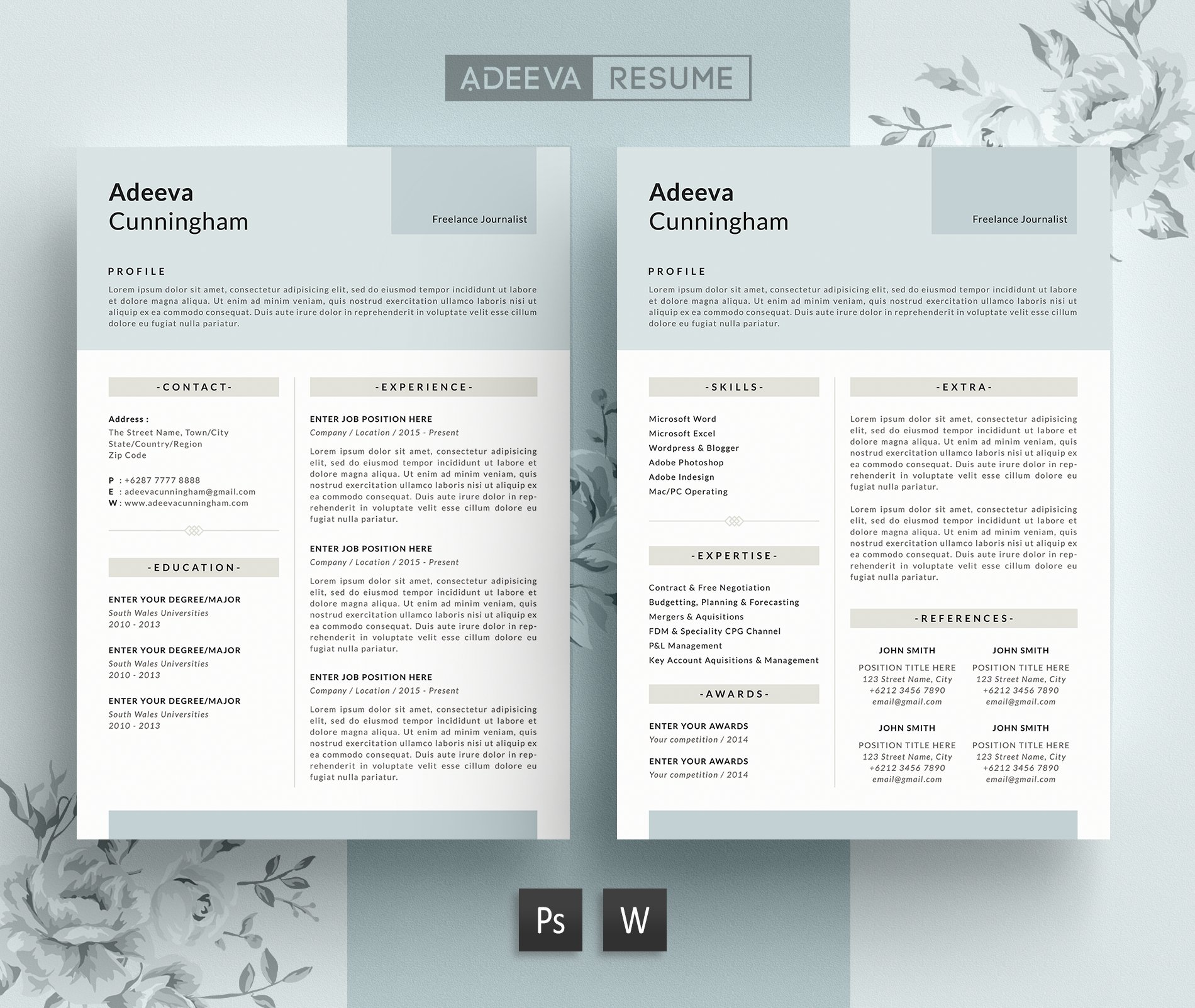 Simple Basic Resume Template Download: Simple Resume Template Cunningham