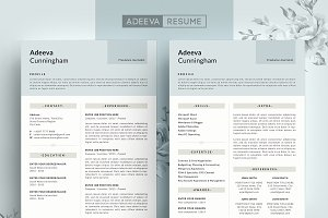 Simple Resume Template Cunningham