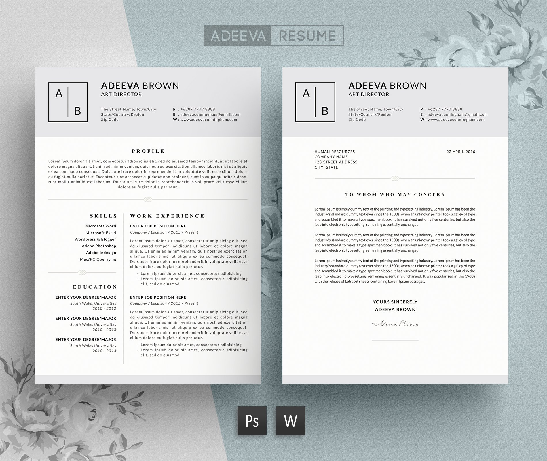 simple resume template brown resume templates creative market