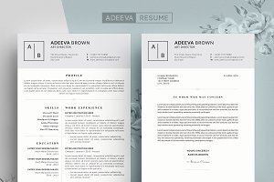 Simple Resume Template Brown