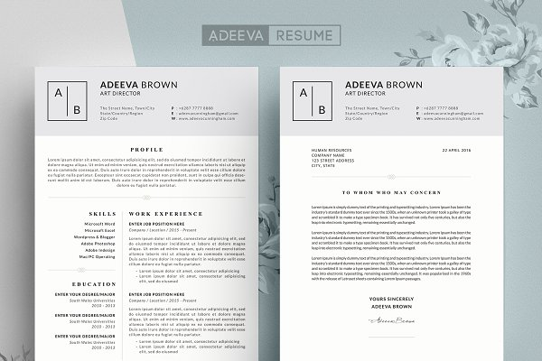 Opposenewapstandardsus  Wonderful Resume Templates  Creative Market With Entrancing Resume Templates Adeevaresume  Simple  With Awesome Resume Cover Page Example Also Banquet Server Resume In Addition Contract Specialist Resume And It Resume Objective As Well As Resume Cover Letter Template Word Additionally Top Skills For Resume From Creativemarketcom With Opposenewapstandardsus  Entrancing Resume Templates  Creative Market With Awesome Resume Templates Adeevaresume  Simple  And Wonderful Resume Cover Page Example Also Banquet Server Resume In Addition Contract Specialist Resume From Creativemarketcom