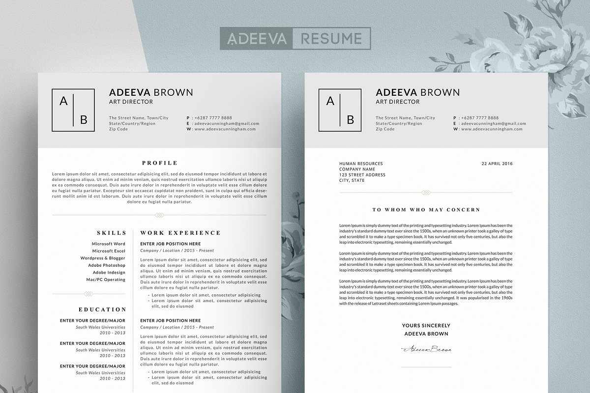 Simple Resume Template Brown ~ Resume Templates ~ Creative ...