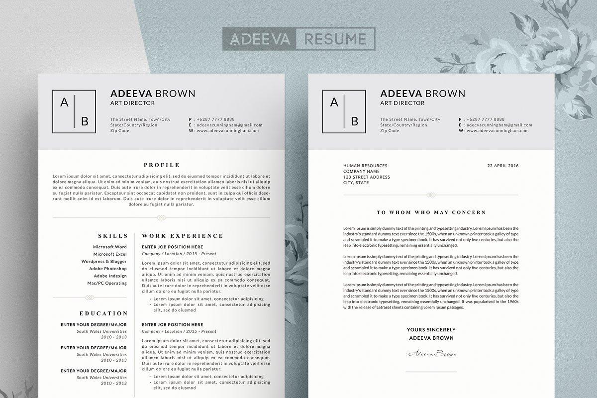 Simple Resume Template Brown ~ Resume Templates ~ Creative Market