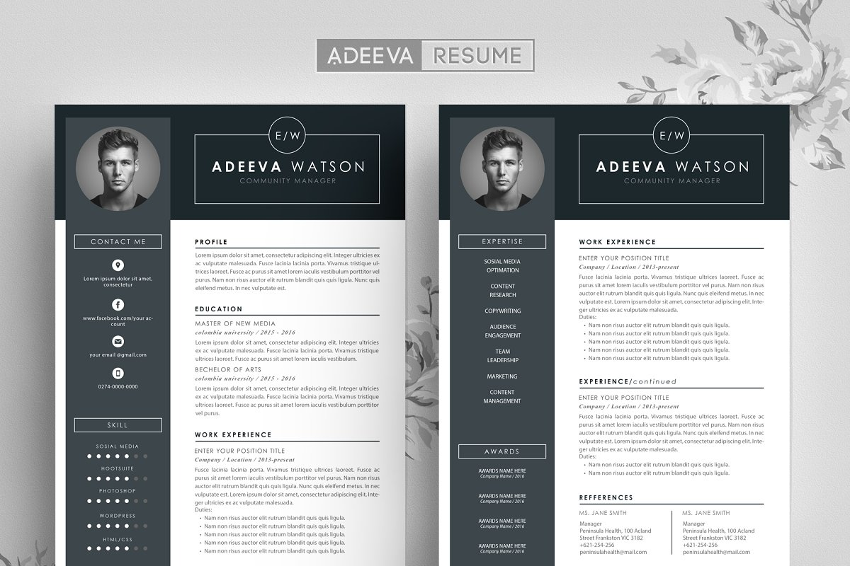 Professional Resume Template Watson ~ Resume Templates ...