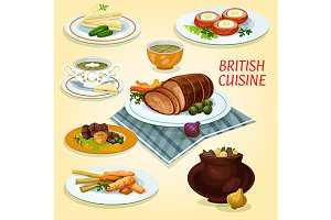 National british cuisine dishes