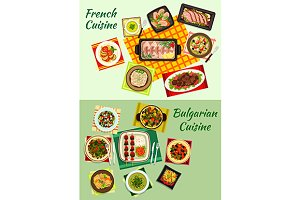 French and bulgarian cuisine