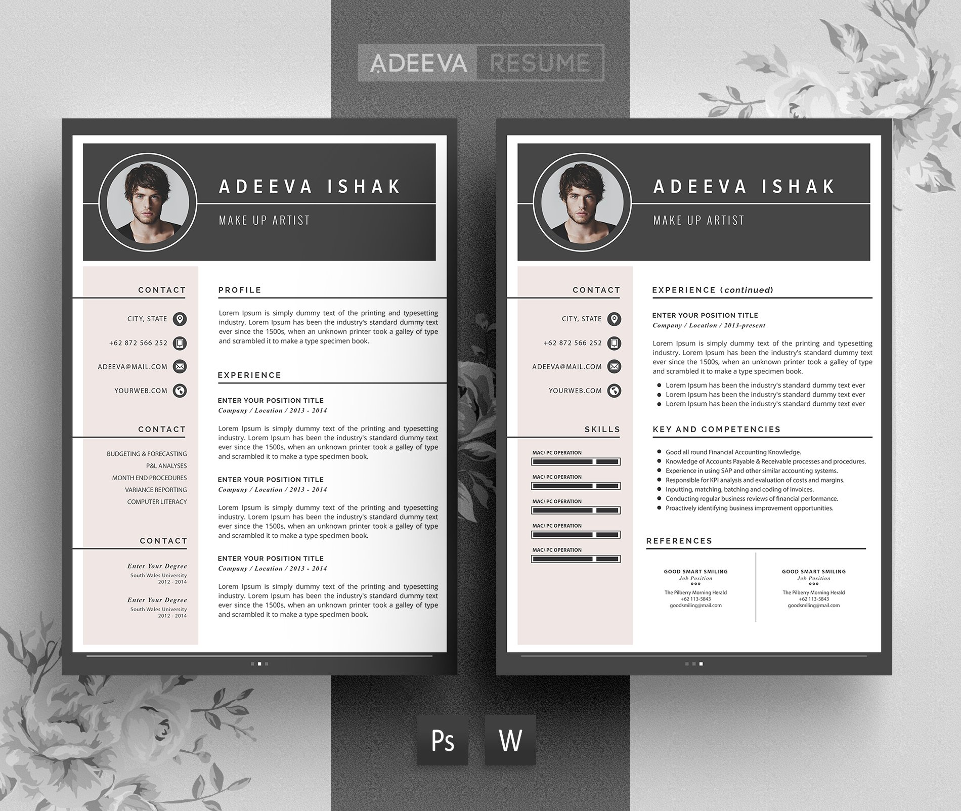 Professional Resume Template Ishak ~ Resume Templates ~ Creative ...
