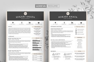 Simple Resume Template Anata