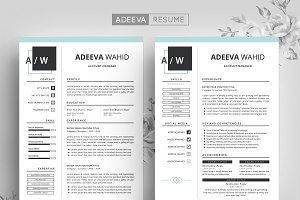 Simple Resume Template Wahid