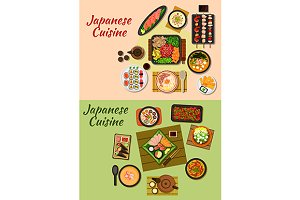 National japanese cuisine dishes