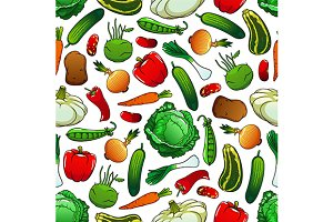 Pattern of fresh vegetables