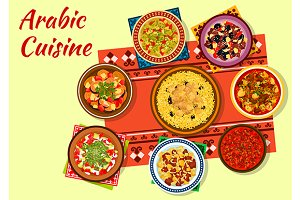 Arabic cuisine authentic dishes