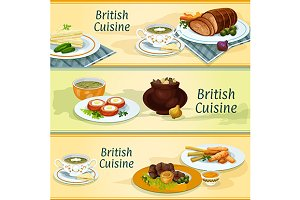 British cuisine banners