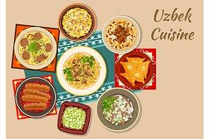 Uzbek cuisine dishes