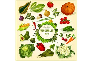 Farm vegetables and herbs
