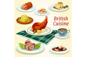 British menu dishes