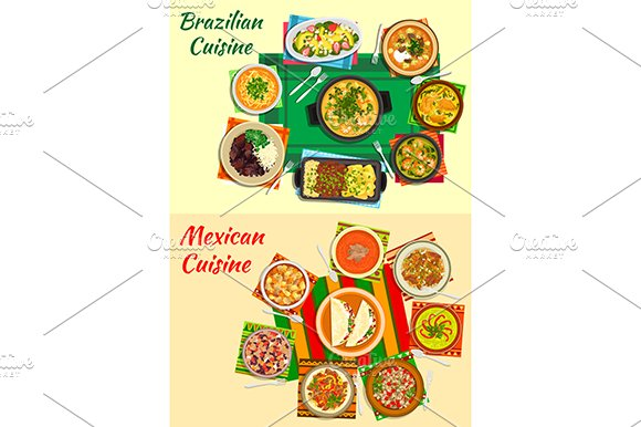 Mexican and brazilian cuisine