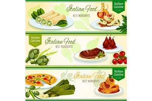 Italian cuisine restaurant banners