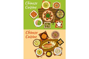 National chinese cuisine dishes