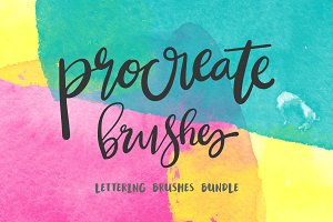 Procreate Lettering 34+ Brush Bundle