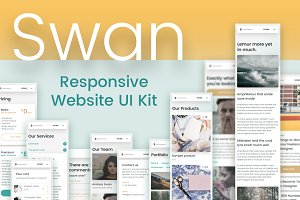 Swan — Responsive Website UI Kit