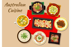 Australian national cuisine dinner