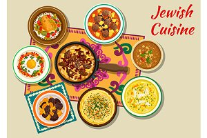 Jewish cusine menu dishes