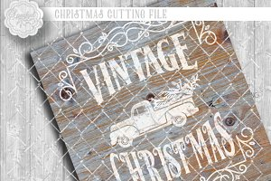 Vintage Rustic Christmas SVG File