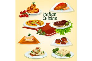 Italian national cuisine dinner