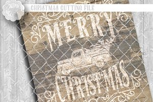 Rustic Merry Christmas Cut Files