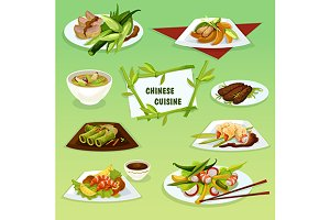 Chinese cuisine traditional dishes