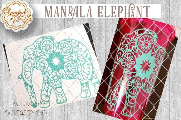 Mandalas Elephant Cut File Pre Designed Illustrator Graphics Creative Market