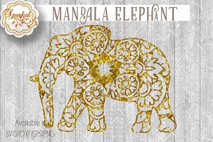 Mandalas Elephant Cut File