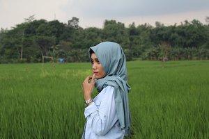 Hijab in rice fields 1.0