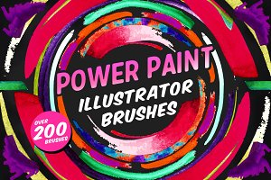 Power Paint Illustrator Brushes