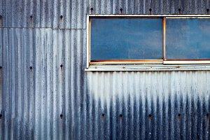 Grunge Galvanized with Glass window